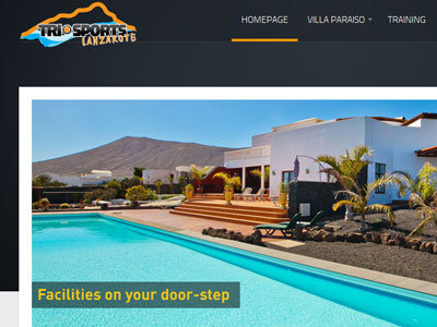 Tri Sports Lanzarote web design